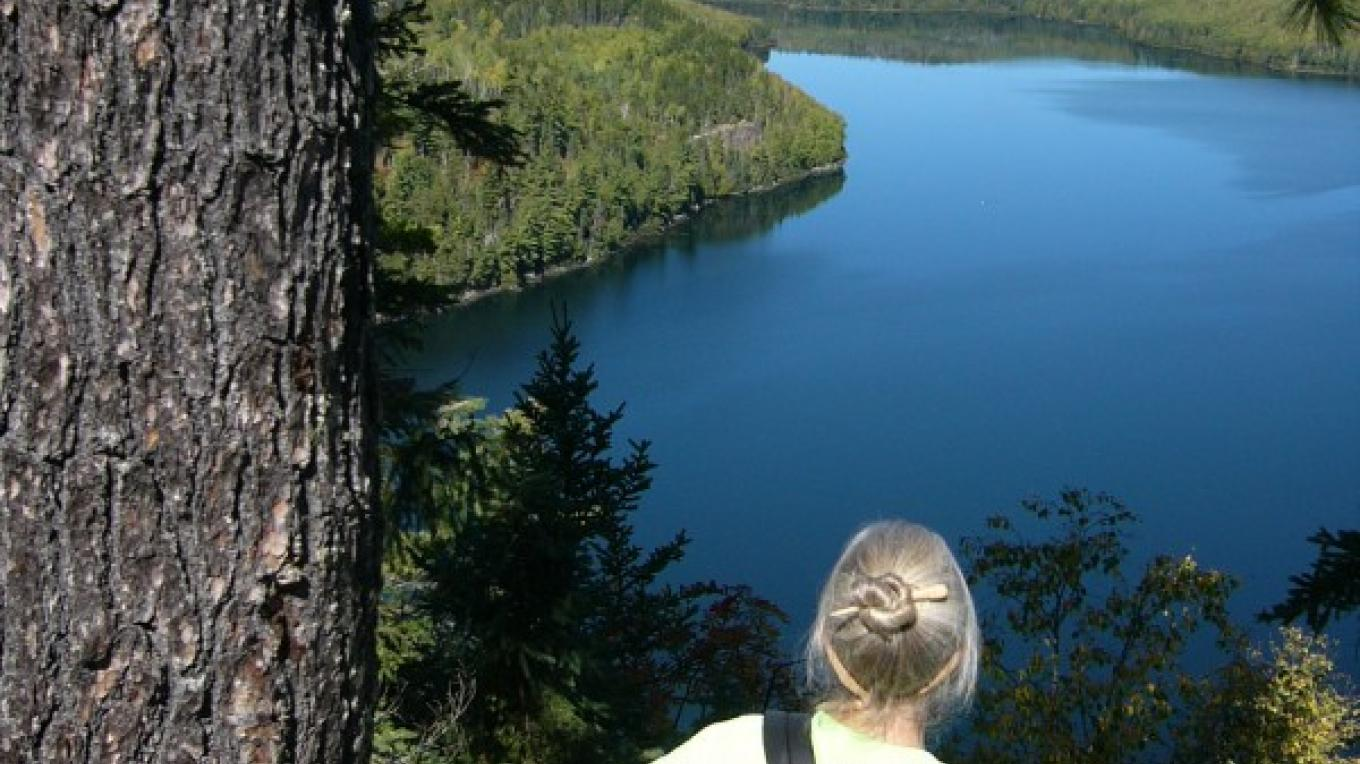 Rose Lake overlook near Stairway Portage – Seaton