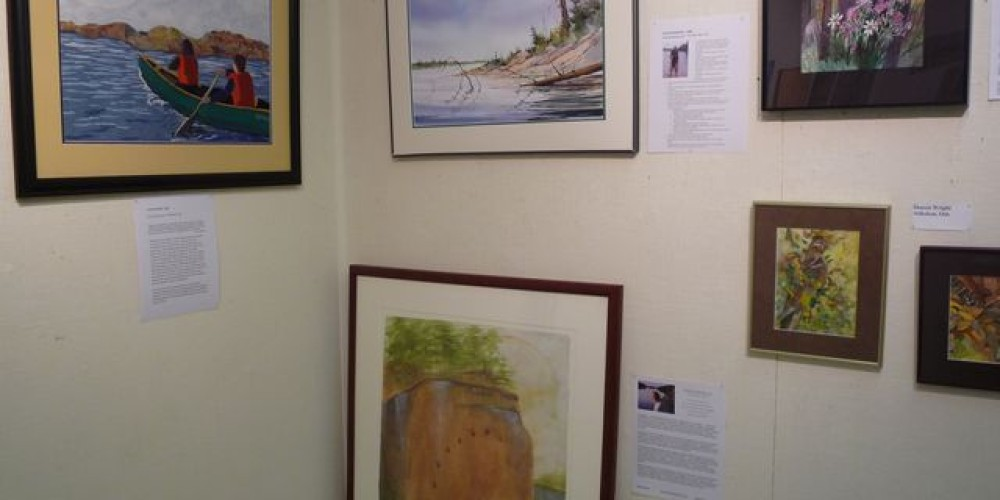 Inspired by Quetico : Artist in Residence Display – Pictograph Art Gallery