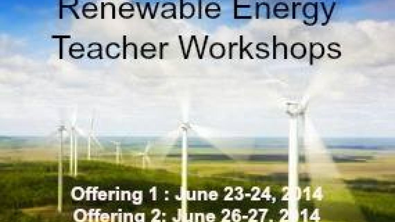 Renewable Energy Teacher Workshops – John Geissler