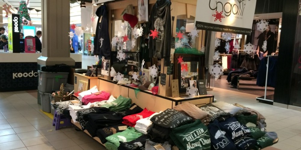 Kiosk set up at Intercity Shopping Centre for Christmas sales. – Chelsea Fikis