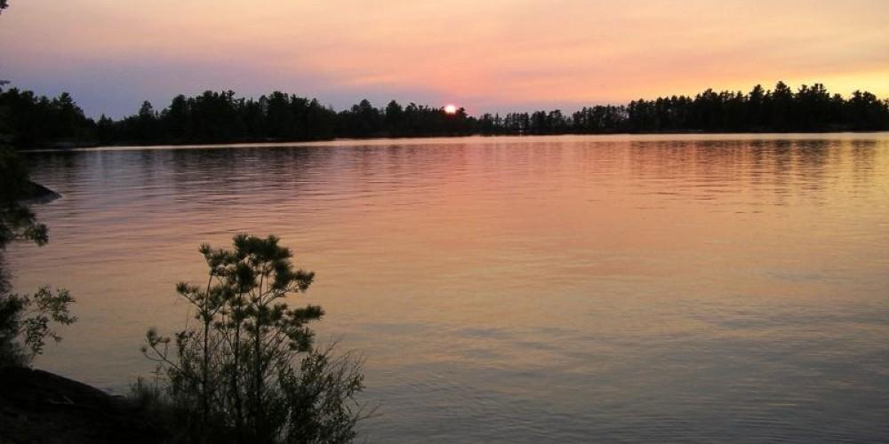 Rainy Lake Sunset