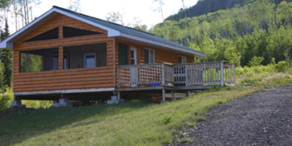 Here is one of the cozy cabins available.