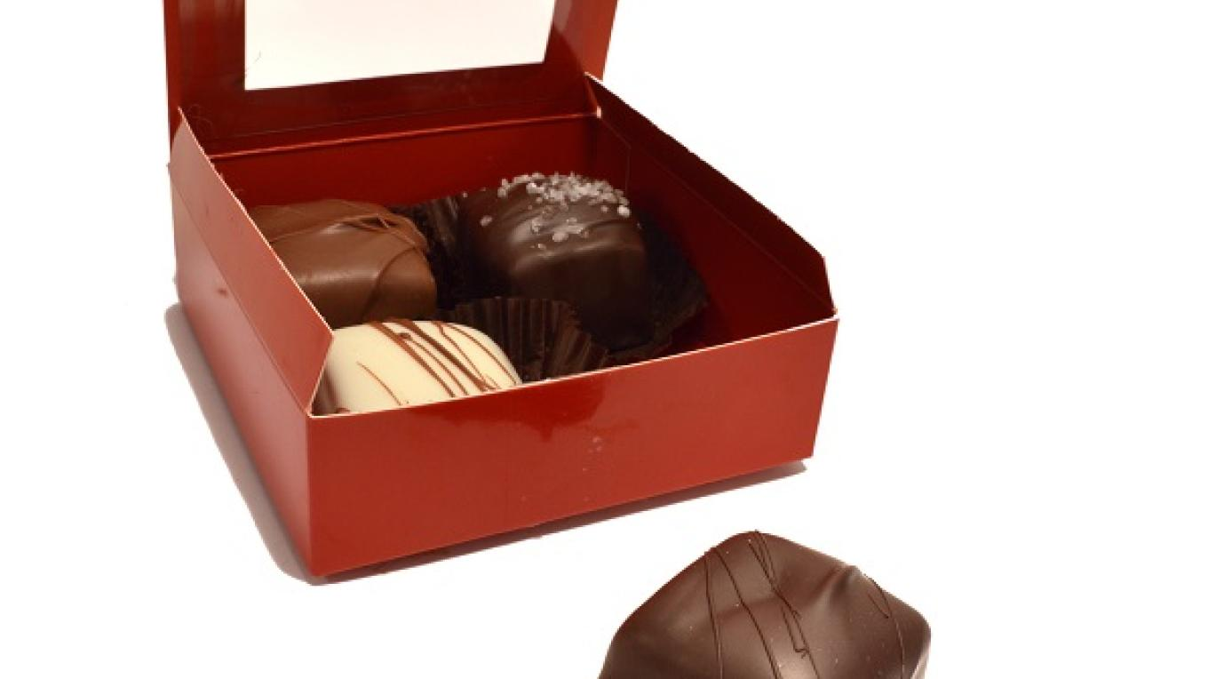 Boxed caramels.