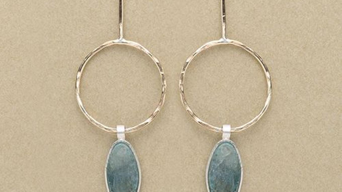 Kyanite Earrings – Monica Hansmeyer