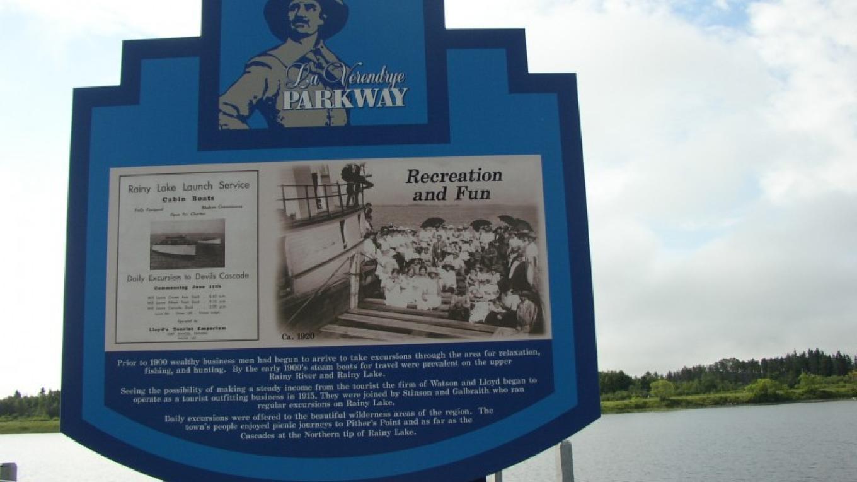 La Verendrye Parkway Sign – Fort Frances Chamber of Commerce