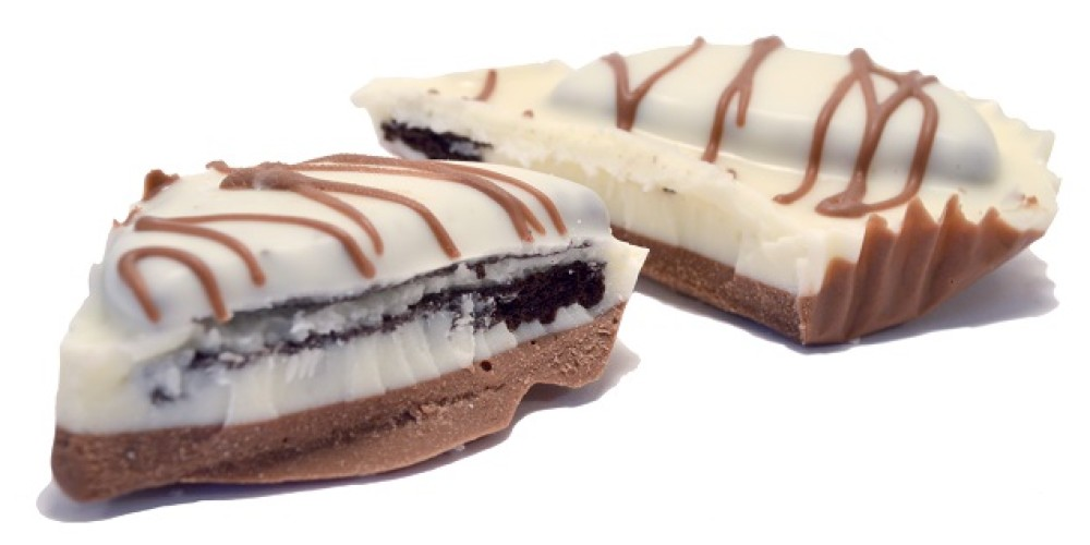 Cookies and Cream Bar.  Oreo cookies broken into white chocolate.