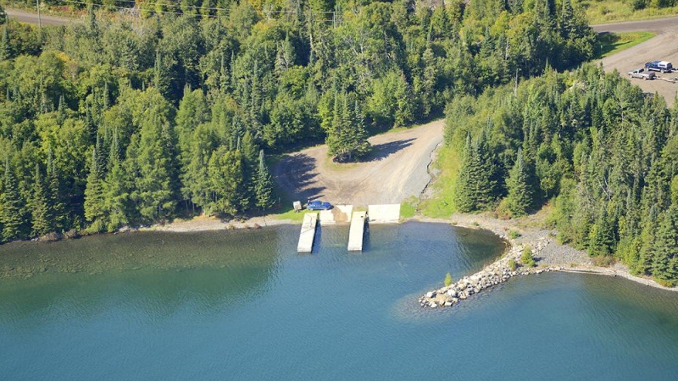 Aerial view of Little Trout Bay Conservation Area