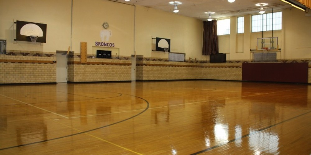 Backus Gym, home to Bronco Junior High Basketball, open gym and other sporting events, available for rental – Backus Staff