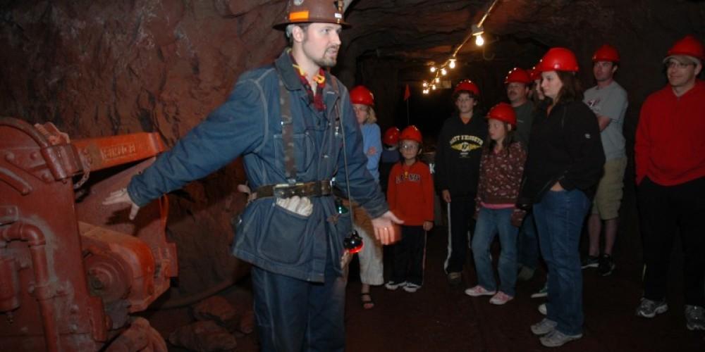 Park Interpreter sharing the mine's rich history. – MN DNR