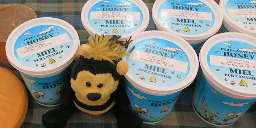 Locally produced, pure honey.