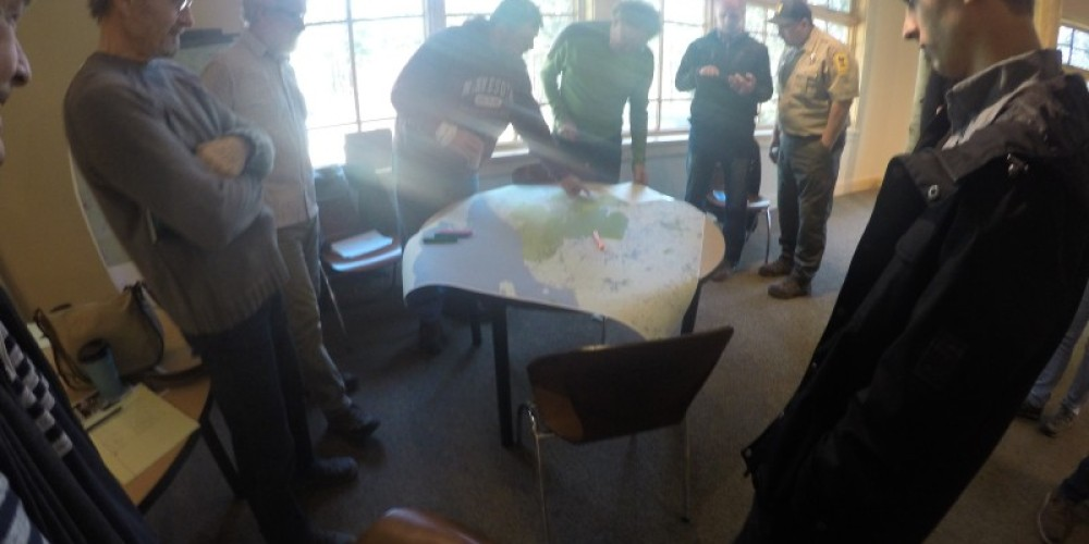 Our first plans in BIKE THE HEART - gather around the map!