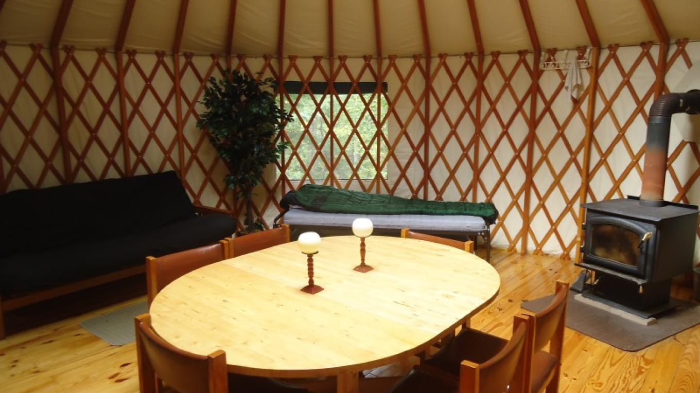 Wilderness Yurt Fireplace – Owner