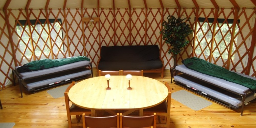 Wilderness yurt interior – Owner