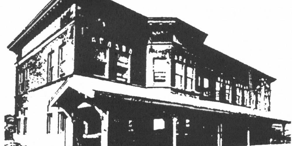 Artist rendering of the 1907 D&IR Depot. – Mel Sando