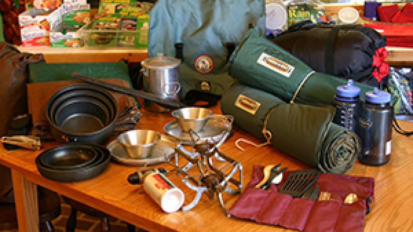 Canoe outfitting equipment for a BWCA trip – B Kerfoot