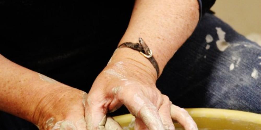 The ceramics studio is a popular hub of activity with classes and studio renters creating work. – Kjersti Vick