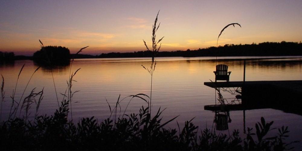 Fall Sunset on Bear Island Lake – Marie Vogt