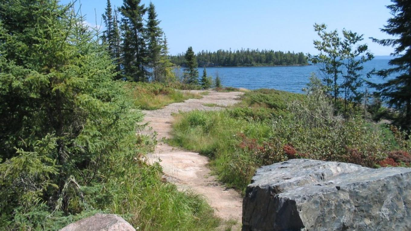 View of MacKenzie Point Conservation Area from the parking lot – LRCA Staff