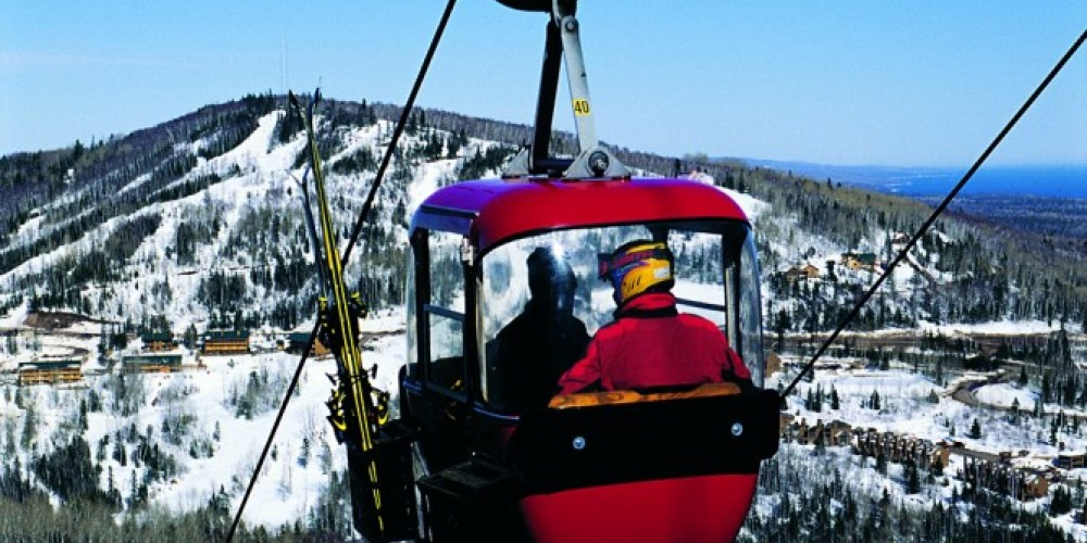 The Lutsen Mountain Tram is one of the main ski lifts getting skiers and snowboarders to the slopes on Moose Mountain.
