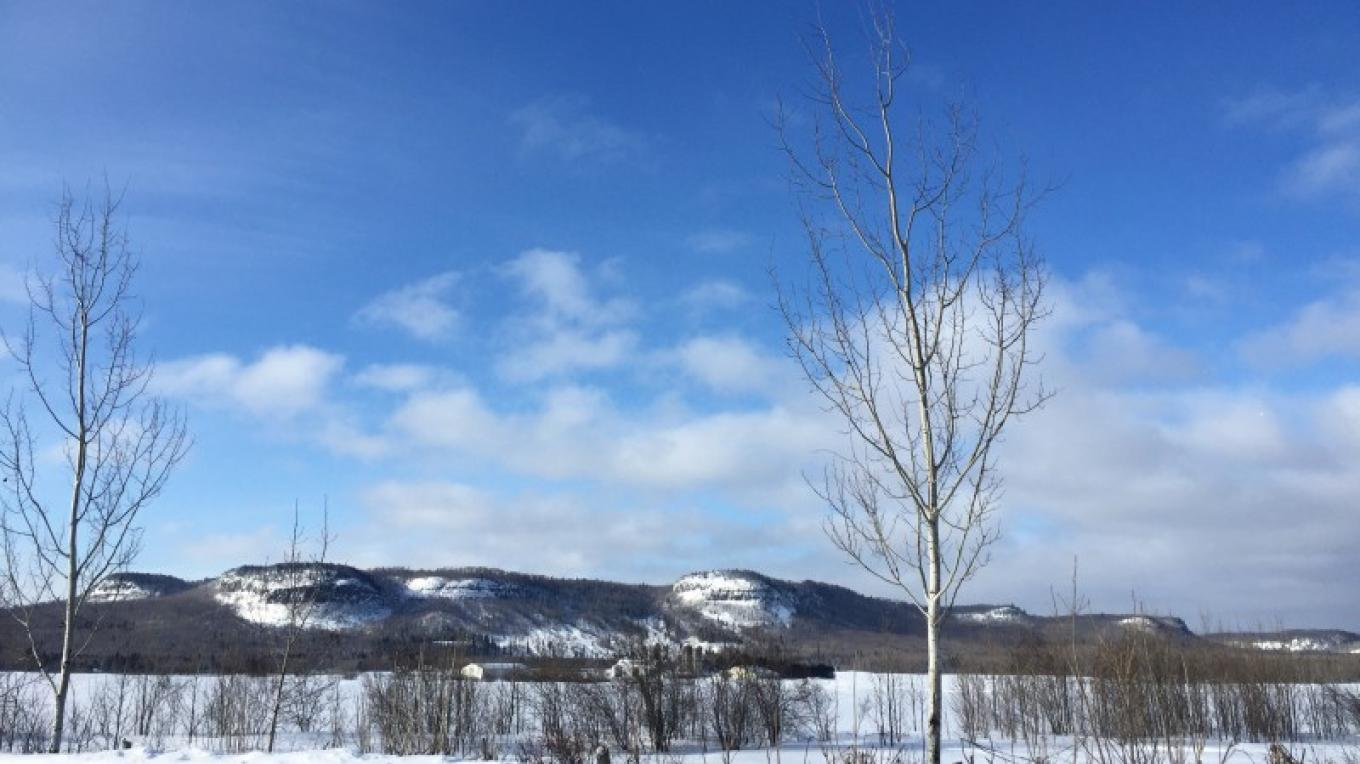 clear blue sky on a winter morning – Courtney Lanthier