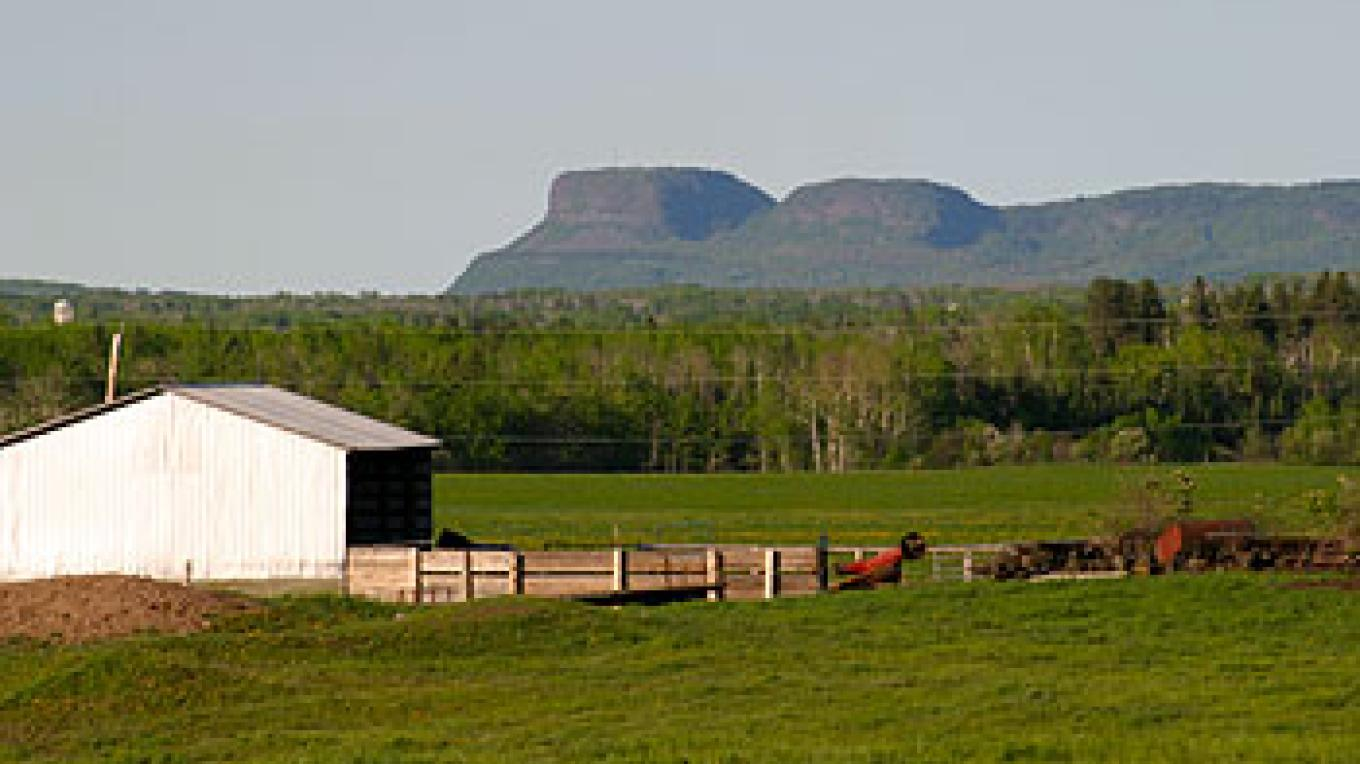 The farm with Nor'wester mountains in background – Sunset Ridge Cattle Co.