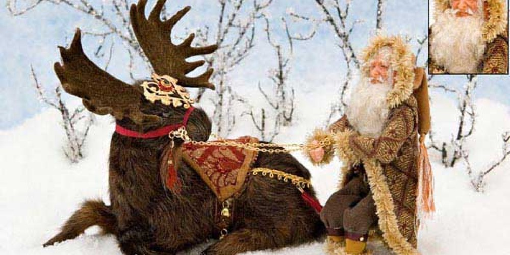 THIS STUBBORN MOOSE IS FEATURED ON THE COVER PAGE OF DOLLHOUSE MINIATURES DECEMBER 2006 ISSUE! – Kay