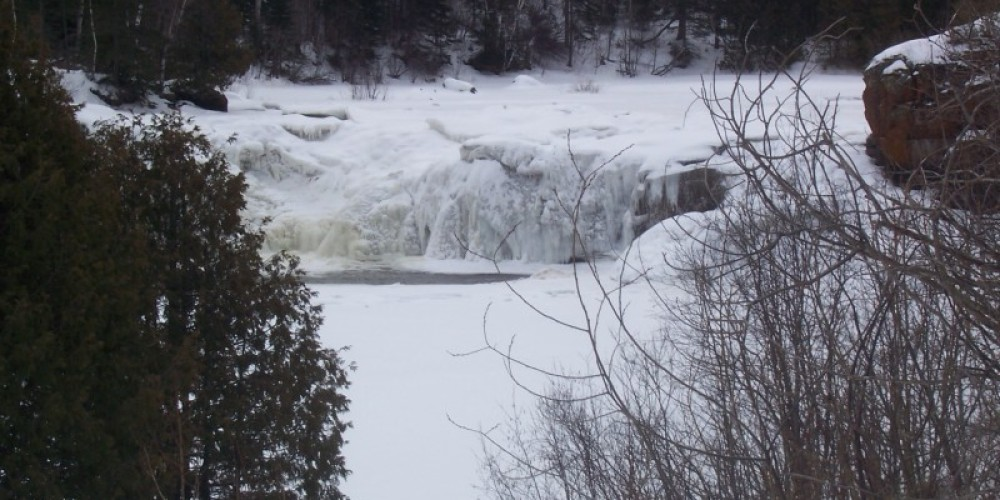 Ice Covered Middle Falls