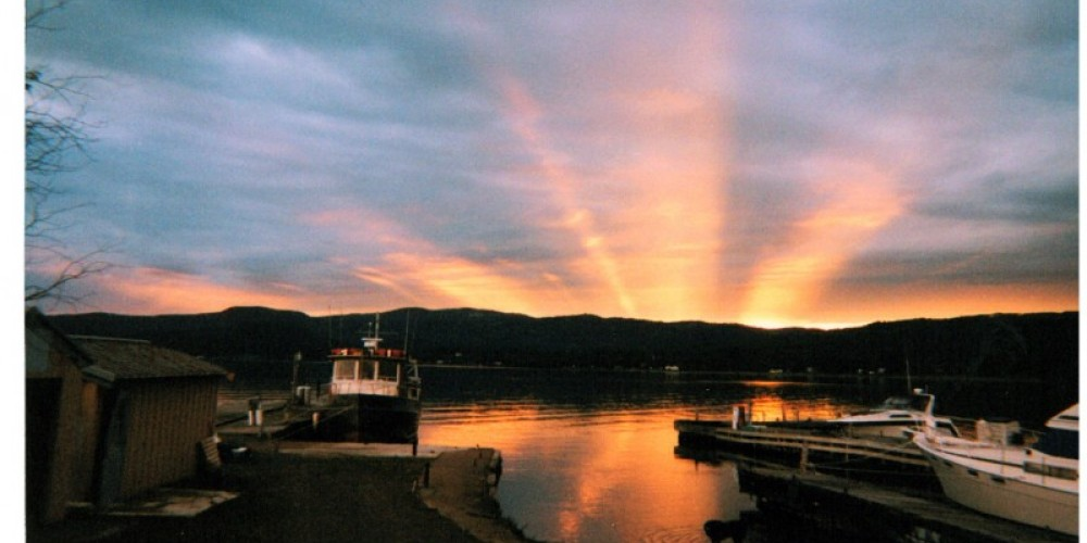 Dawn at the ferry terminal to get to Isle Royale. – D. Ellis