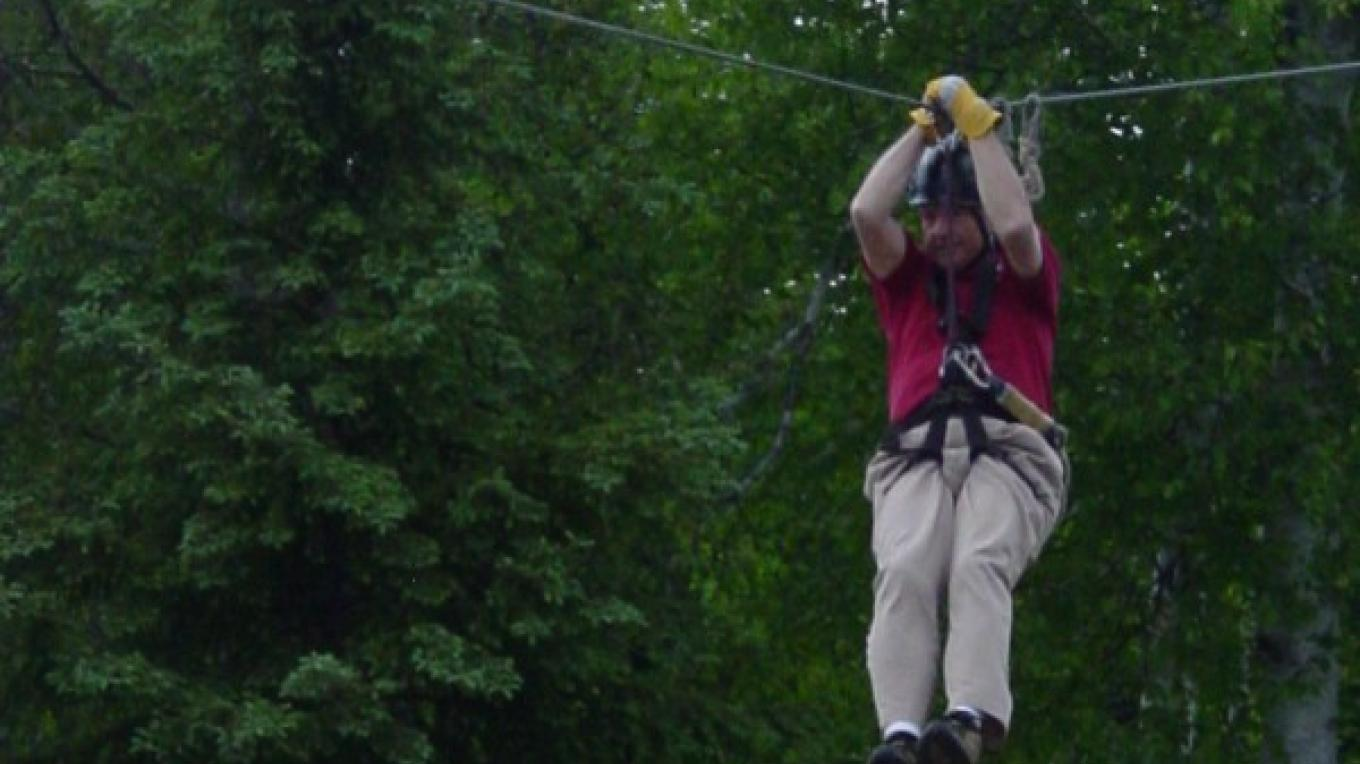 Exciting zip in the boreal forest – Gunflint Lodge staff