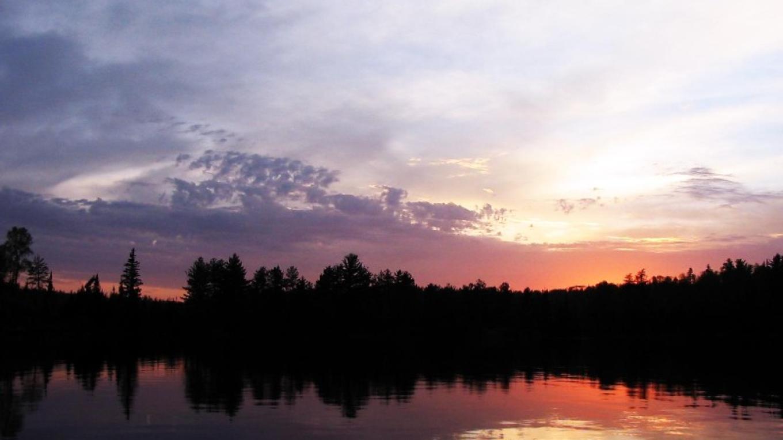 Sunset on Snowbank