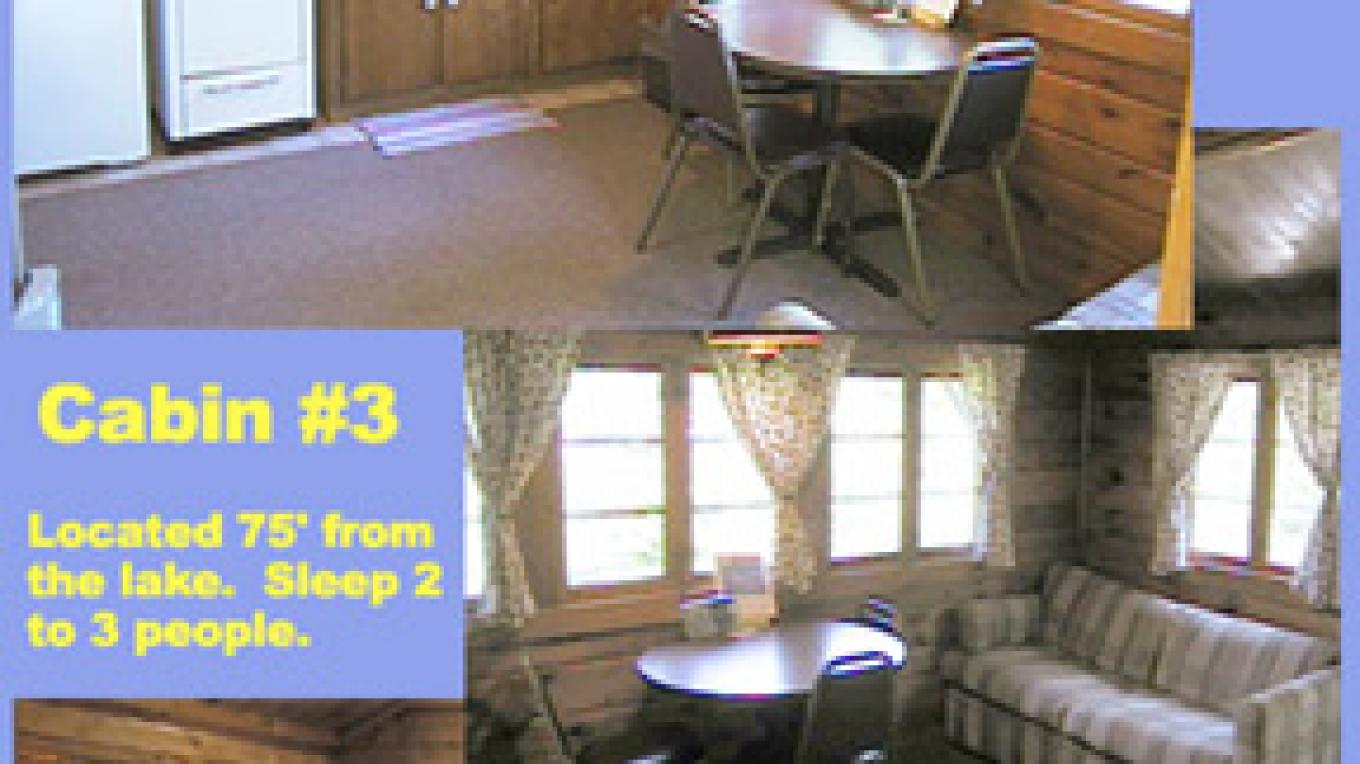 Cabin 3 for two people