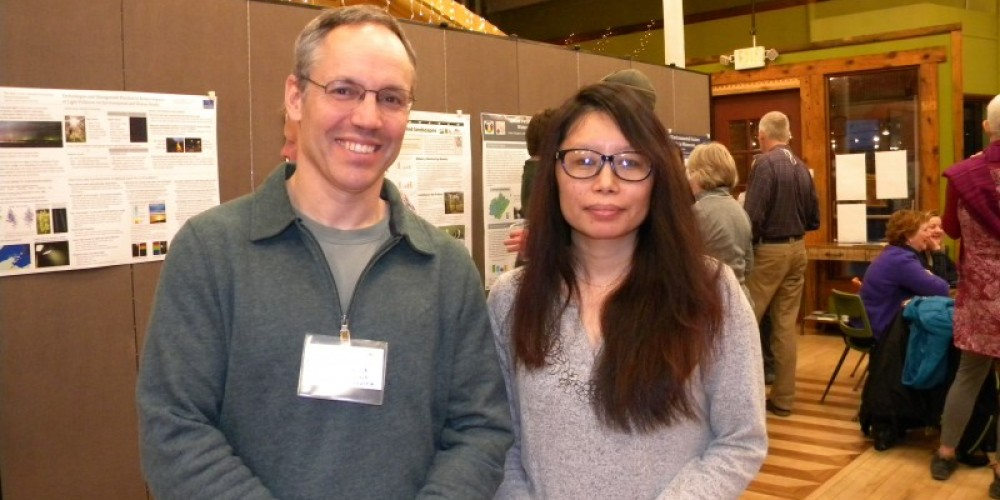 Brian Sturtevant's Landscape Modeling Workshop was a great addition to the symposium - Brian is seen here with Bina Thapa who presented on Forest Health