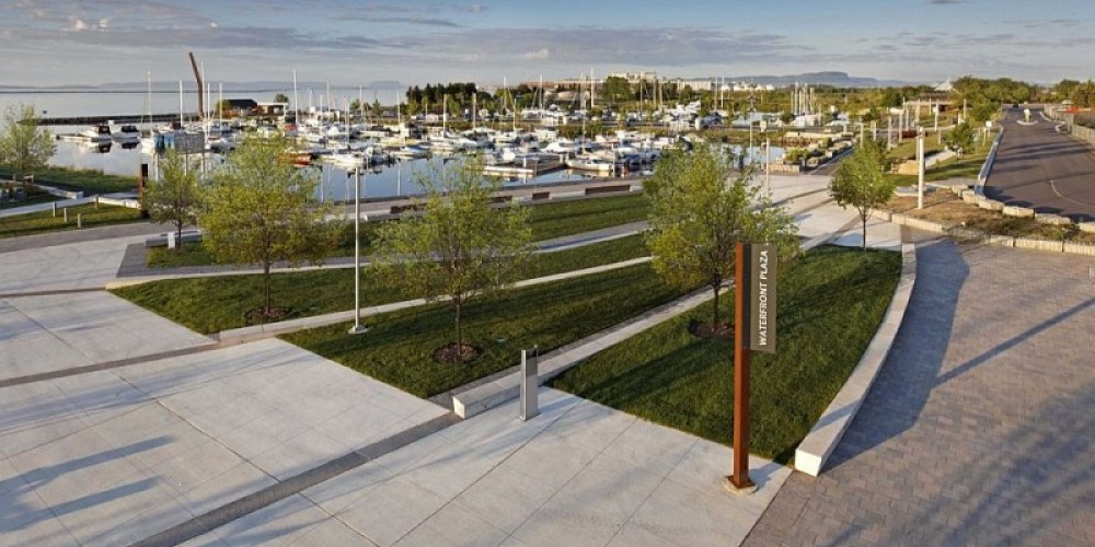 Overlooking the new waterfront plaza at Prince Arthur's Landing. – BMI