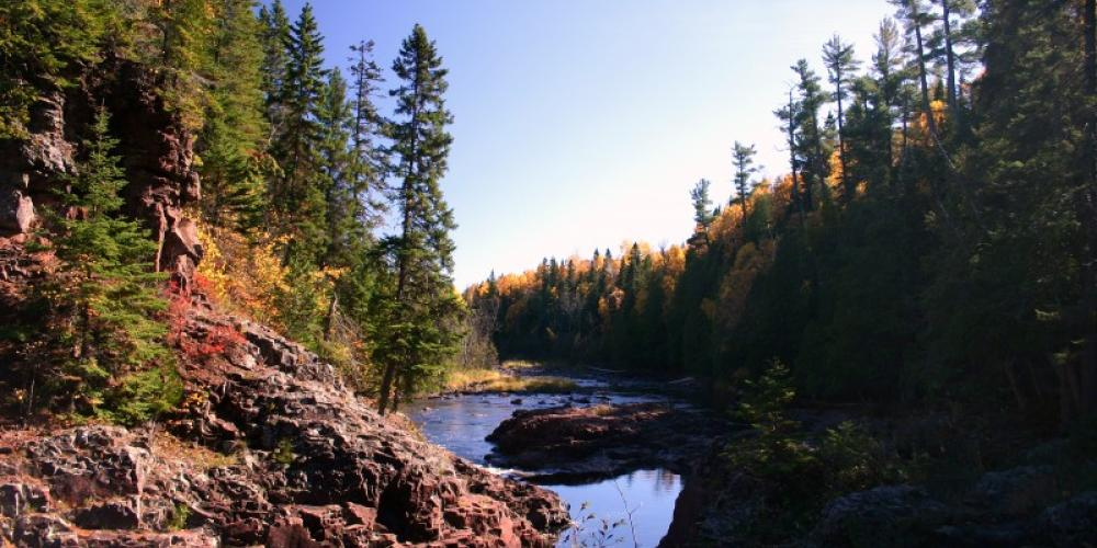 Fall colors on the Baptism River – Andy Fisher