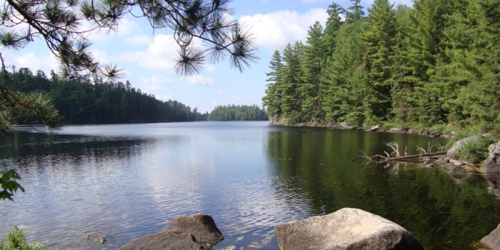 The end of a scenic portage in the BWCA. – Ely Outfitting Company