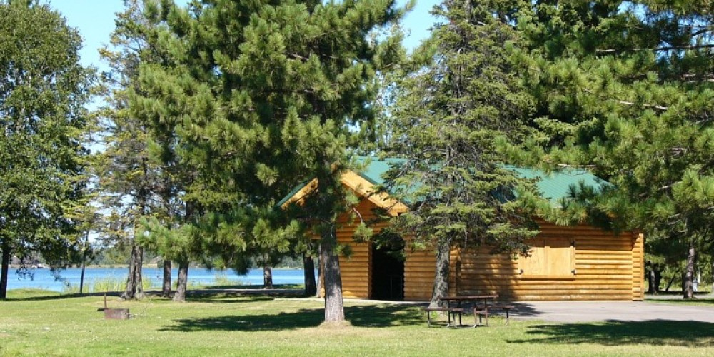 Picnic Shelter at Fisherman's Point Campground