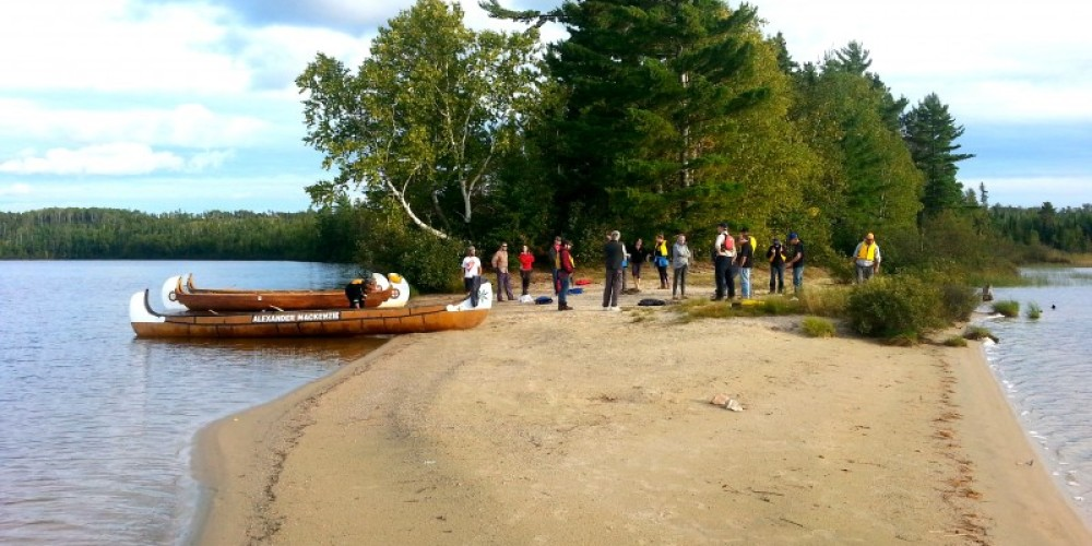 Pickerel Lake sand-spit, a short paddle from the Campground – C.Stromberg