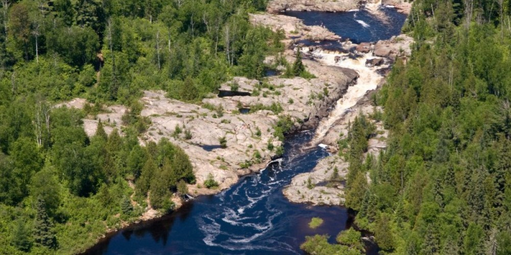 Aerial view of Cascades Conservation Area