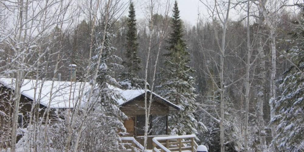 Cabin 7 in snow