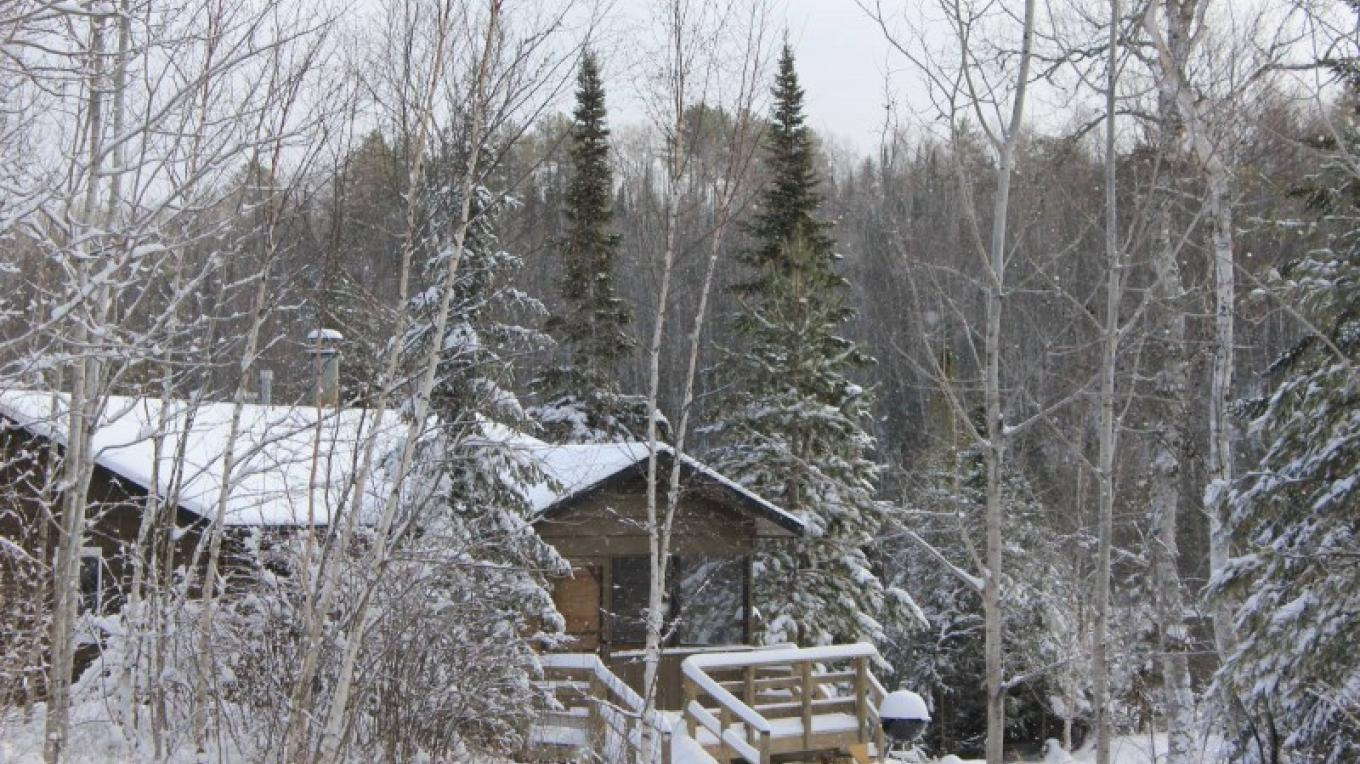 Cabin 7 in snow