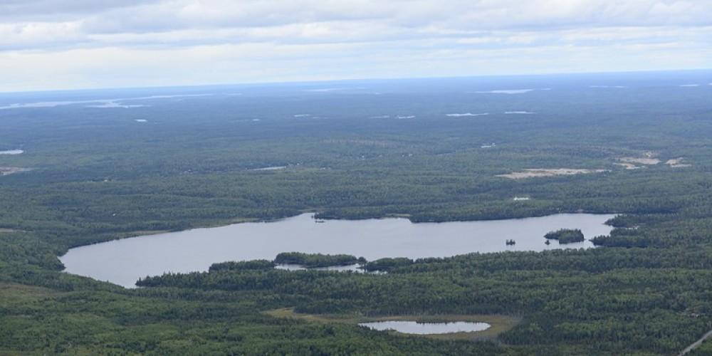Aerial View of Hazelwood Lake