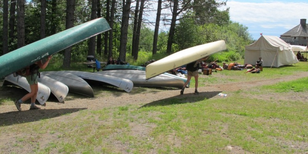Hikers arrive at Grand Portage via the Grand Portage trail. – Beth Drost, NPS