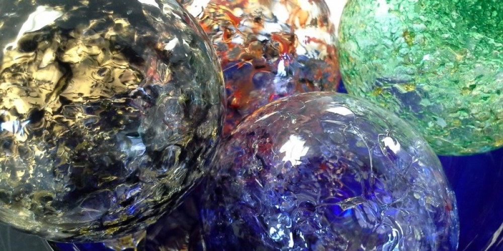 The glass studio hosts classes such as: Blown Glass Ornaments, Fused Glass, and Stained Glass Windows. – Kjersti Vick