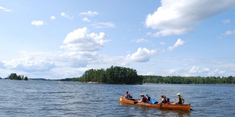 National Park Teen Ambassadors paddling on Kabetogama. – Christina Hausman