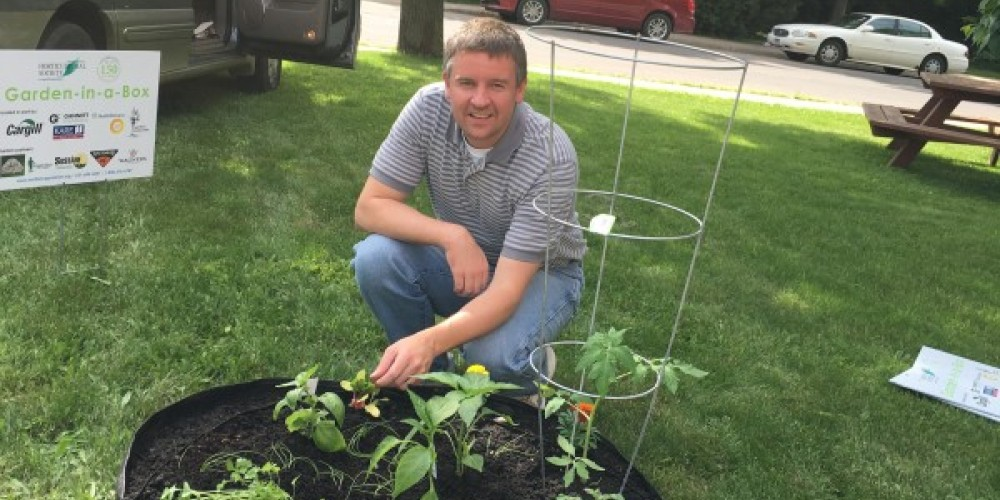 Garden-in-a-Box Project in conjunction with the Rutabaga Project and Minnesota Horticultural Society – Marlise Riffel