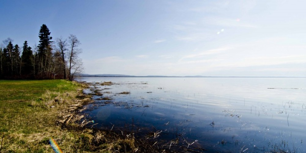 View of Lake Superior from Hurkett Cove Conservation Area parking lot – LRCA Staff