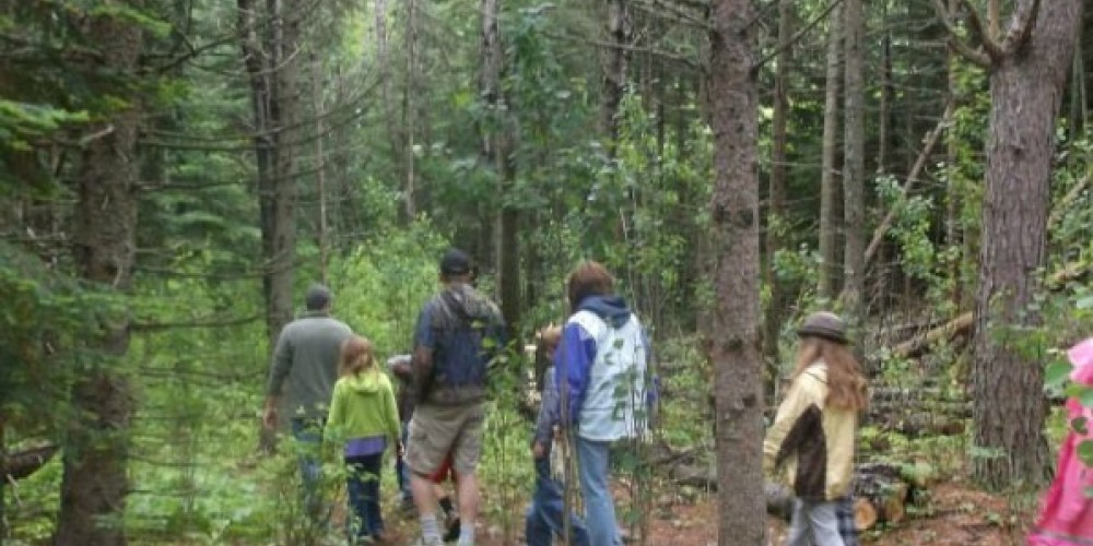 """Nature hike at Dorothy Molter Museum during """"Dorothy Day."""""""