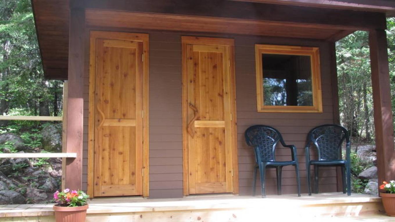 Sauna and outhouse facilities. – MaryAnn Pinckney