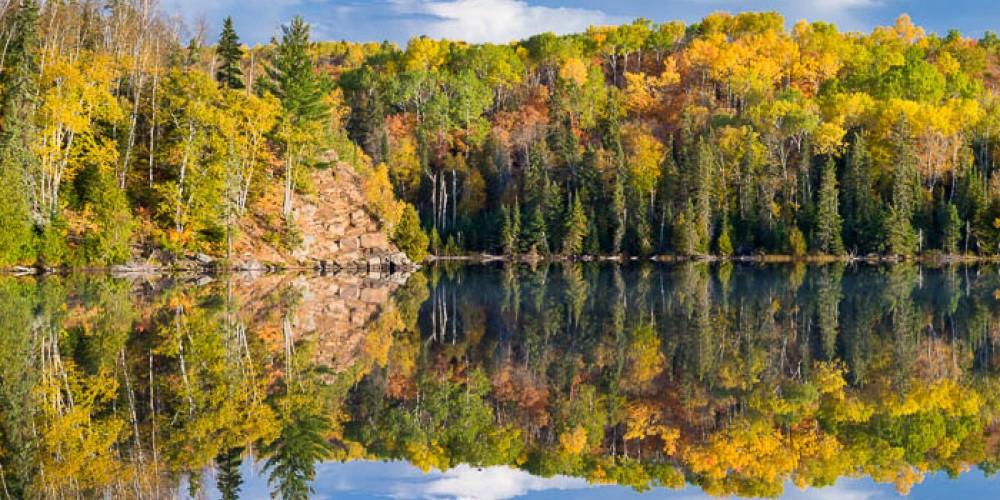 Fall colors on Mink Lake near Grand Marais. – Bryan Hansel
