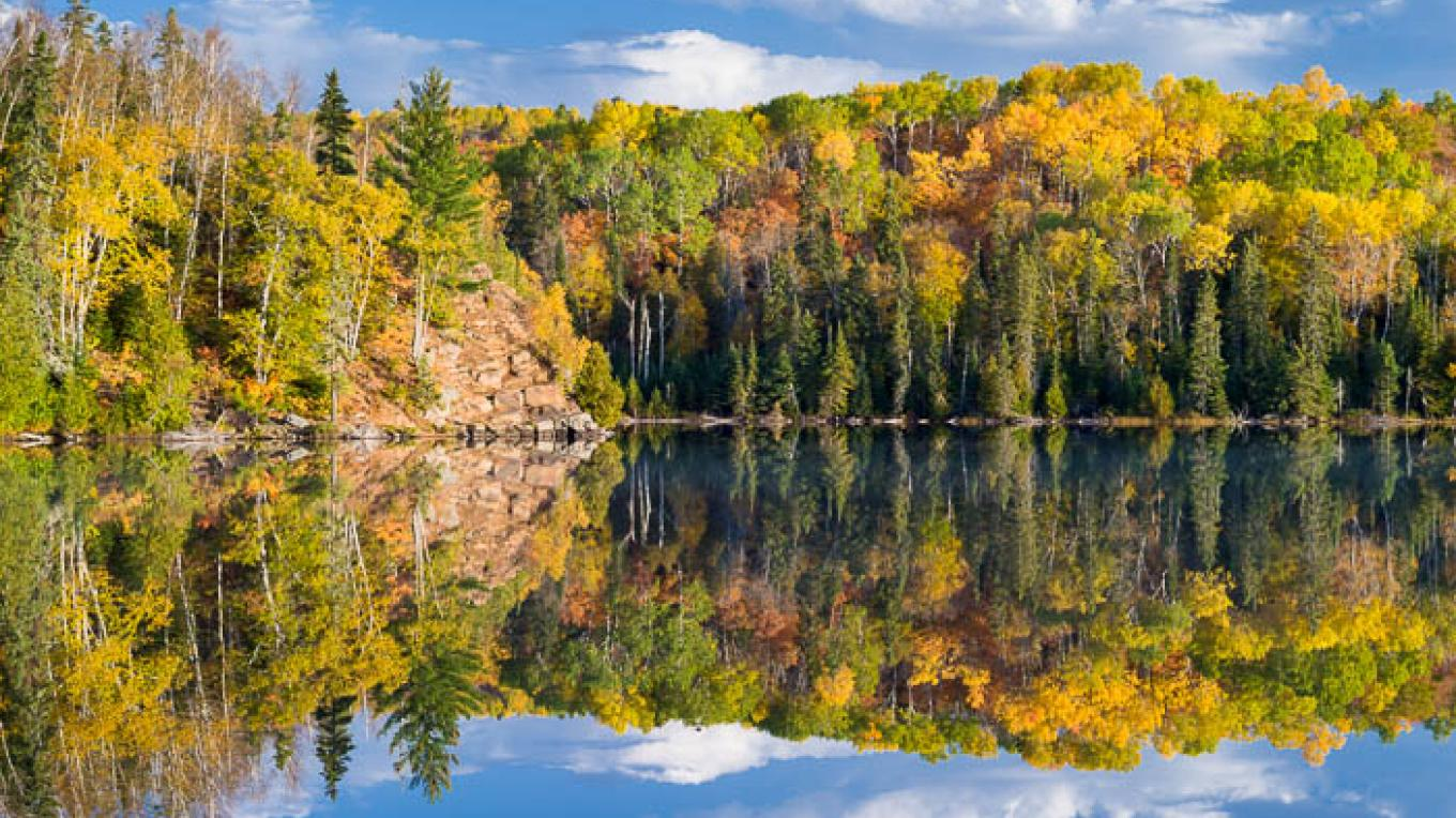 Fall colors on Mink Lake near Grand Marais. – Bryan Hansel